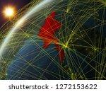 myanmar on model of planet...   Shutterstock . vector #1272153622