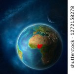 nigeria from space on planet...   Shutterstock . vector #1272158278