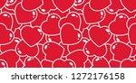 Heart Seamless Pattern Vector...
