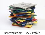 Pile Of Colorful Floppy Disks...