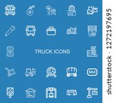 editable 22 truck icons for web ... | Shutterstock .eps vector #1272197695