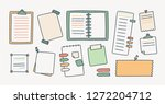 bundle of notepads and paper... | Shutterstock .eps vector #1272204712