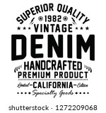 california vintage denim ... | Shutterstock .eps vector #1272209068