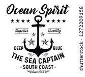 ocean spirit  south coast  deep ... | Shutterstock .eps vector #1272209158