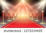 illustration of red carpet in... | Shutterstock . vector #1272214435