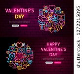 happy valentine's day website... | Shutterstock .eps vector #1272215095