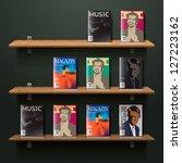 bookshelf  vector illustration. | Shutterstock .eps vector #127223162