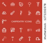 editable 22 carpentry icons for ... | Shutterstock .eps vector #1272232378