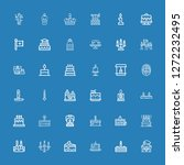 editable 36 candle icons for... | Shutterstock .eps vector #1272232495
