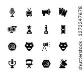 vector illustration of 16 icons.... | Shutterstock .eps vector #1272247678