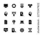 vector illustration of 16 icons....   Shutterstock .eps vector #1272247822