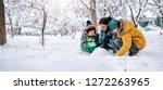 family having fun outdoor...   Shutterstock . vector #1272263965