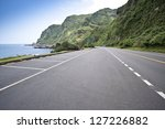 coastal road and sea in summer  ... | Shutterstock . vector #127226882