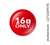 only 16 dollars. sixteen... | Shutterstock .eps vector #1272269578