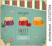 Confectionery Menu Card In...