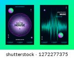 techno music poster. wave flyer ... | Shutterstock .eps vector #1272277375