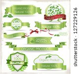 natural product  ribbons and...   Shutterstock .eps vector #127229126