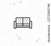 sofa icon  couch icon  vector...   Shutterstock .eps vector #1272300748