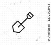shovel icon  vector best line...   Shutterstock .eps vector #1272303985