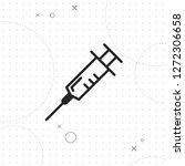 syringe line icon  vector best...   Shutterstock .eps vector #1272306658