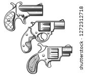 set of retro pistols. three... | Shutterstock . vector #1272312718