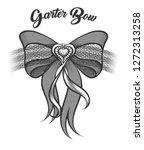 garter bow with heart shaped... | Shutterstock . vector #1272313258