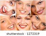 happy woman smiles | Shutterstock . vector #1272319