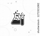 two laboratory test tubes icon  ...   Shutterstock .eps vector #1272321082