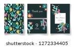 ready wedding card design...   Shutterstock .eps vector #1272334405