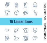 animal icon set and chicken...