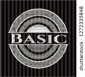 basic silver shiny emblem | Shutterstock .eps vector #1272335848