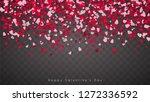 confetti of hearts falling down ... | Shutterstock .eps vector #1272336592