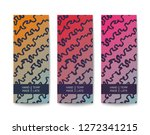 abstract banner with a handmade ... | Shutterstock .eps vector #1272341215