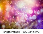 christmas light background.... | Shutterstock . vector #1272345292