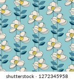 Seamless Pattern With Flowers...