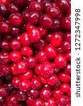 red ripe cherry   background | Shutterstock . vector #1272347998