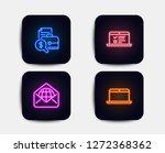 neon glow lights. set of web... | Shutterstock .eps vector #1272368362