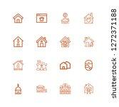 editable 16 residence icons for ... | Shutterstock .eps vector #1272371188