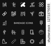 editable 22 bandage icons for... | Shutterstock .eps vector #1272375055