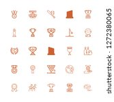 editable 25 championship icons... | Shutterstock .eps vector #1272380065