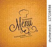 restaurant menu design | Shutterstock .eps vector #127238588