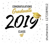 calligraphy graduating class of ... | Shutterstock .eps vector #1272389812