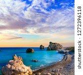 best beaches of cyprus   petra... | Shutterstock . vector #1272396118