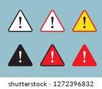 danger sign  warning sign ...   Shutterstock .eps vector #1272396832