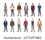 collection of handsome men... | Shutterstock .eps vector #1272397882