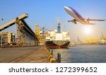 international shipping cargo ... | Shutterstock . vector #1272399652