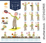 a set of old man about cooking... | Shutterstock .eps vector #1272410905