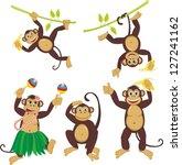 Set Funny Monkeys Set