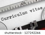 curriculum vitae written on an... | Shutterstock . vector #127242266