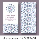 arabic double card for... | Shutterstock .eps vector #1272424648